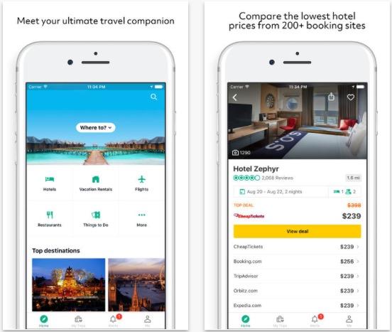 Aplikace Trip Advisor