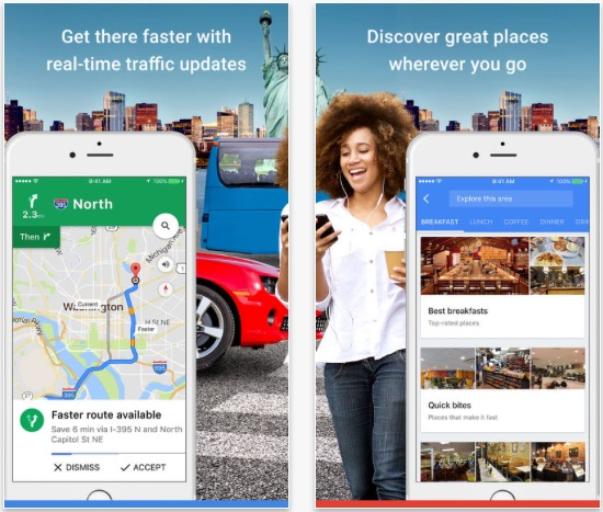 Aplikace Google Maps