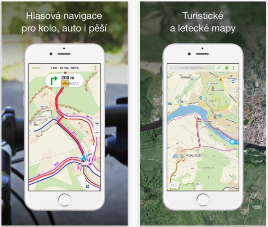 Aplikace Mapy.cz