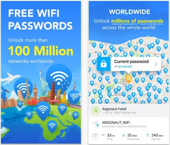 Aplikace Wifi Map