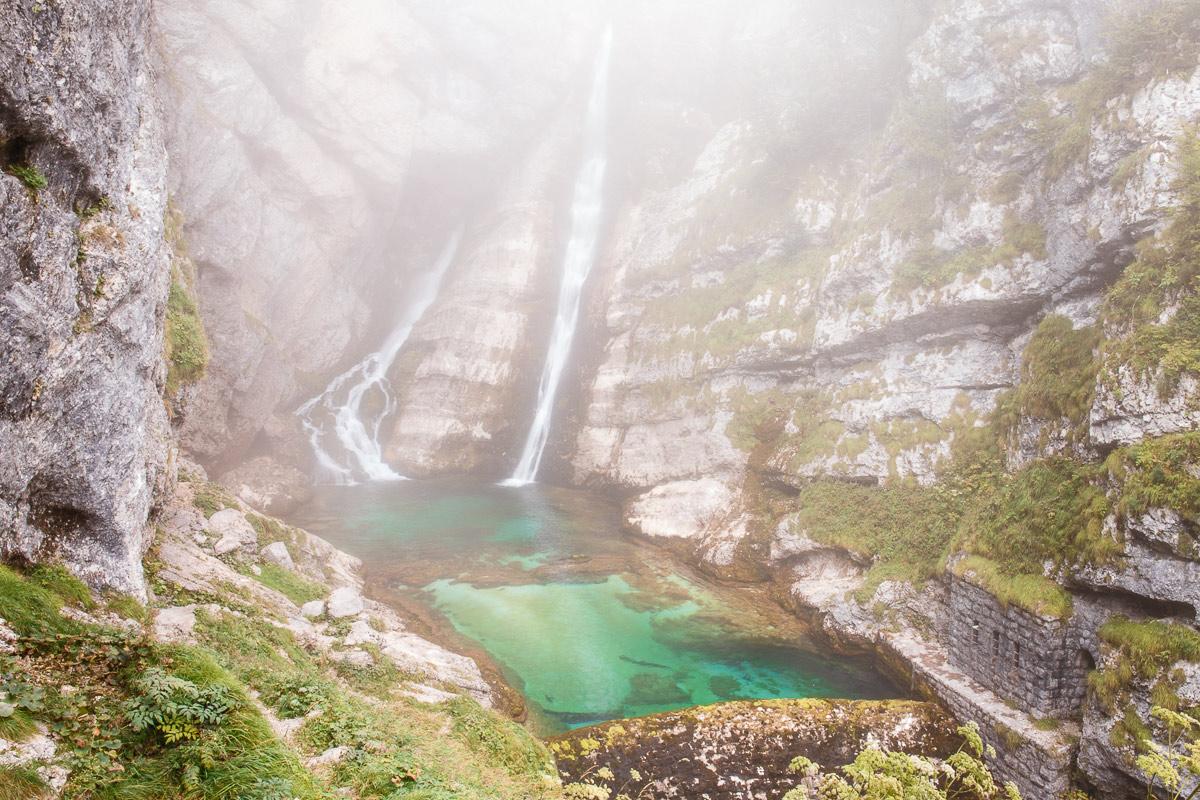 Slovinsko - Slap Savica