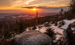 Západ slunce na Třístoličníku