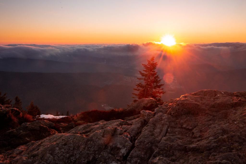 Východ slunce na Velkém Javoru
