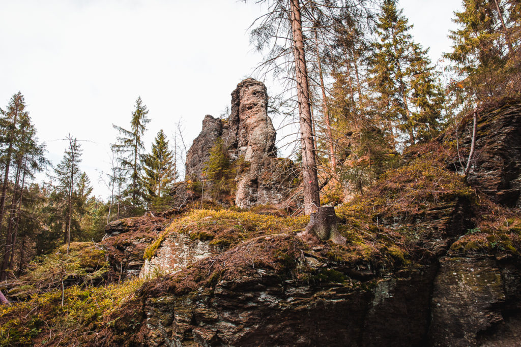 Krušné hory Holubí skály