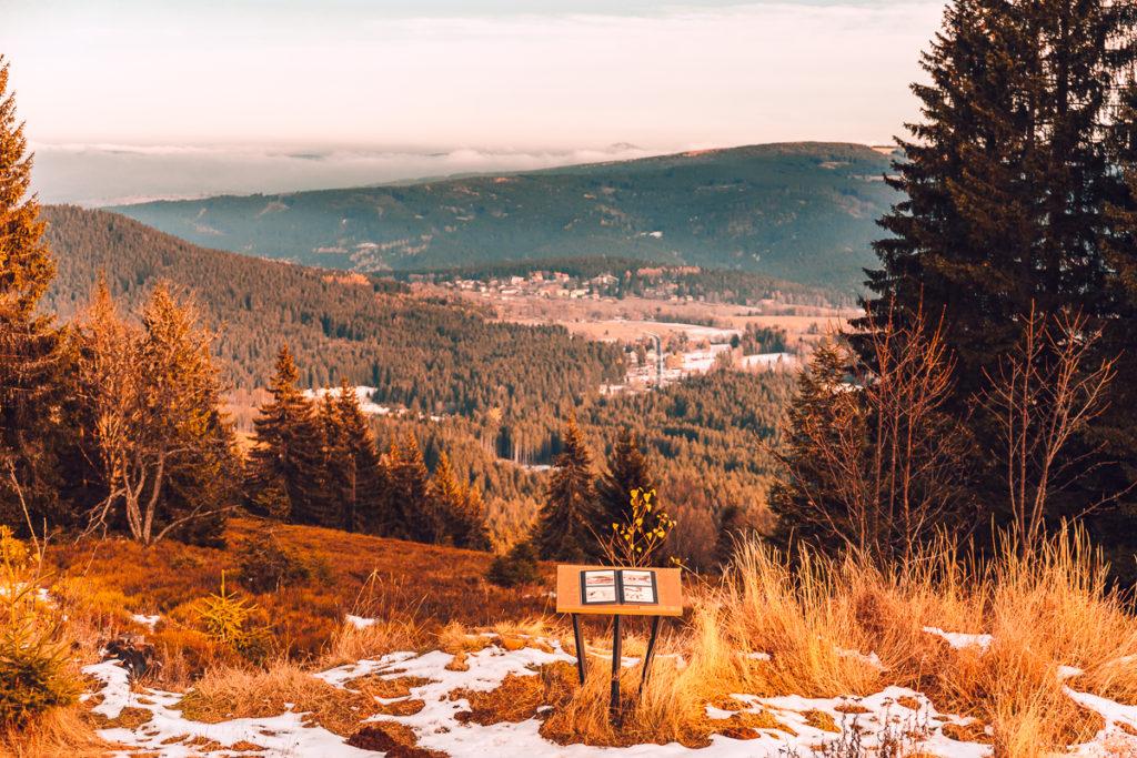 Za sněhem na šumavský Poledník - Vyhlídka Zelená hora