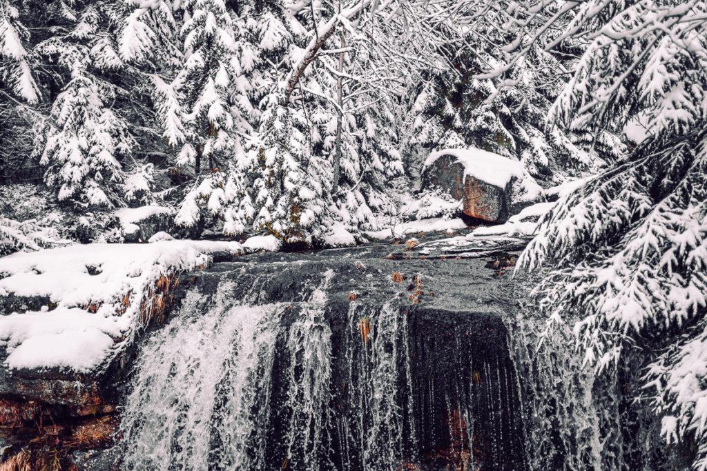 Jizerské hory se psem - Vodopády na Jedlové